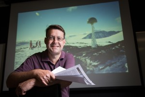 University of Tasmania, Glacier researcher Professor Matt King. Picture: Peter Mathew